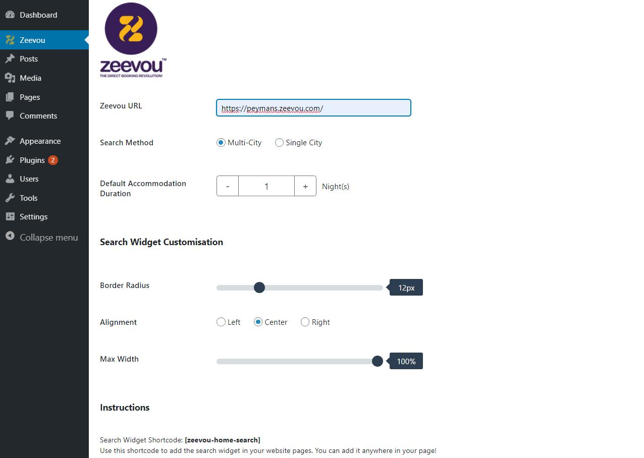 WordPress Plugin instructions- Zeevou