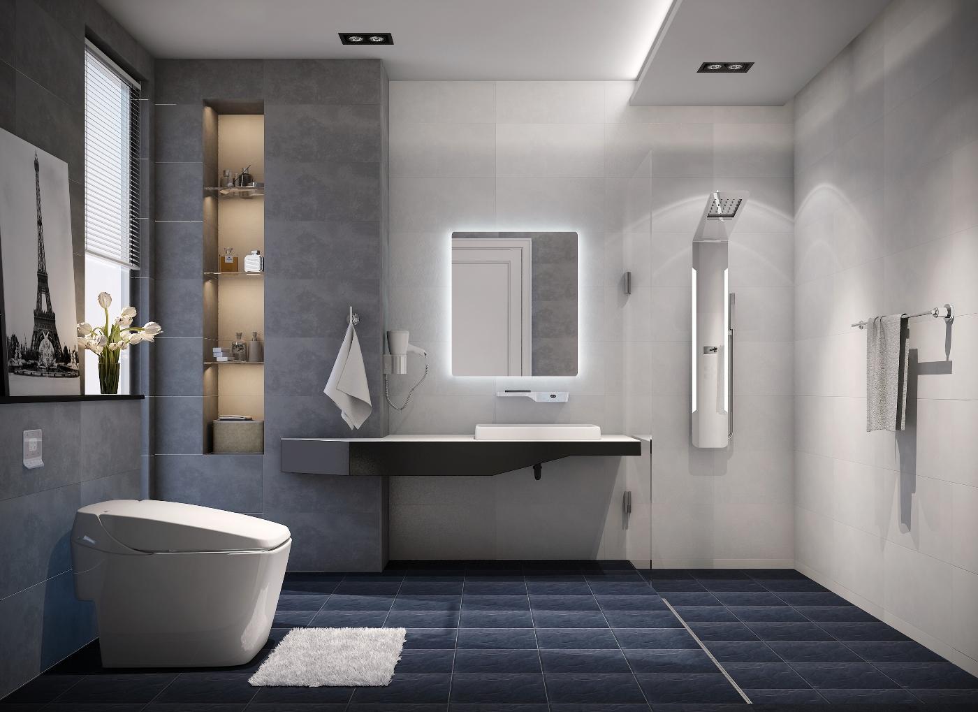 Phòng tắm hiện đại và vô cùng tiện lợi