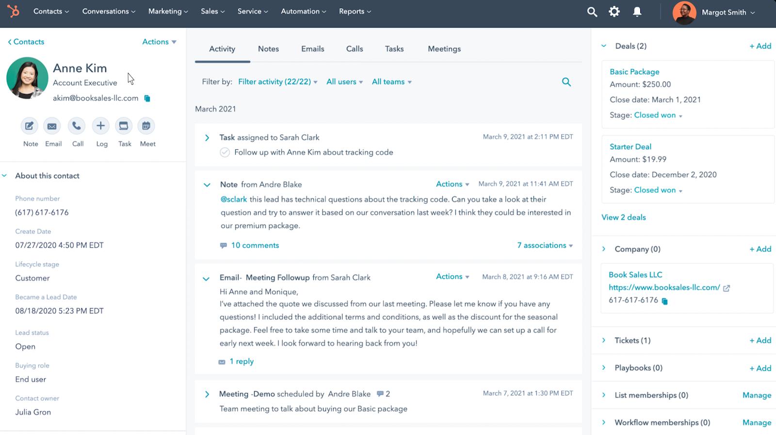 HubSpot Produktaktualisierungen Mai 2021: Ein schlanker CRM-Datensatz