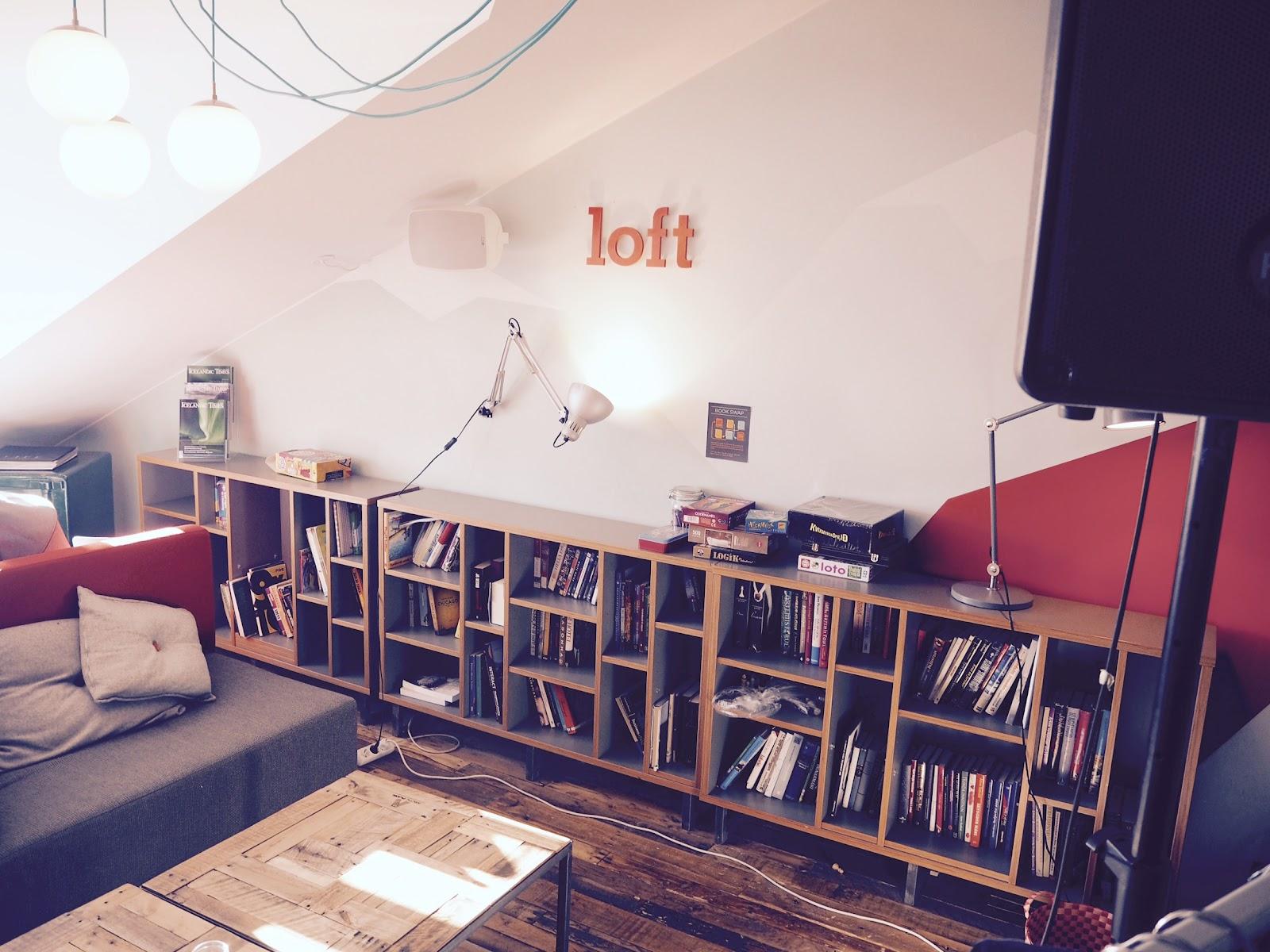 The interior at Loft Hostel.
