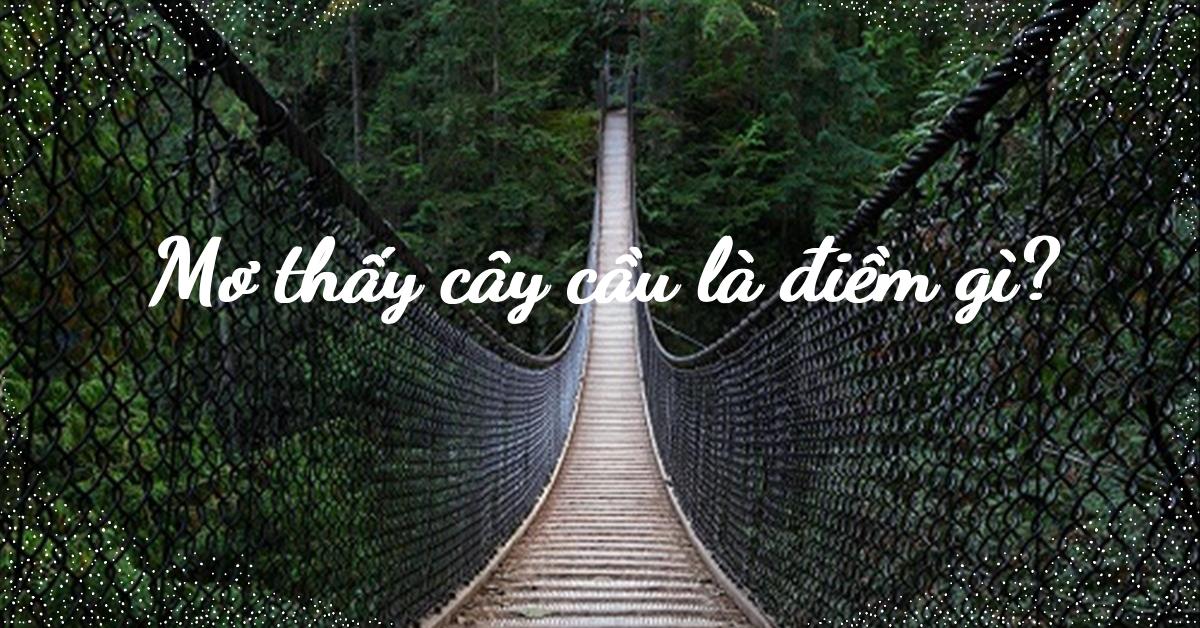 mơ thấy cây cầu là điềm gì