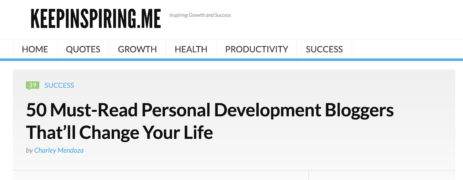 50 personal development bloggers list