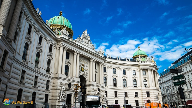 Hofburg Palace, usual home of the Habsburgs