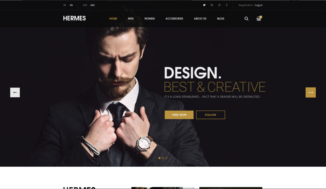 Wordpress ecommerce theme Hermes