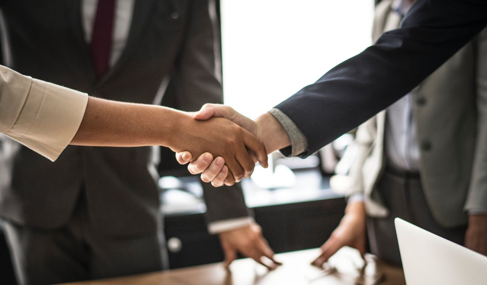 hand shake on a business deal