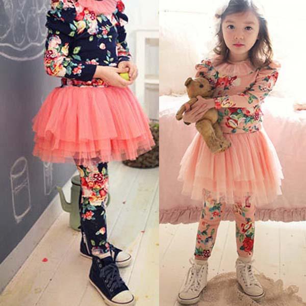 Legginsy ze spódniczką dla dziewczynki - 25+najpiękniejszych modeli - sklep internetowy tanio AZUZA