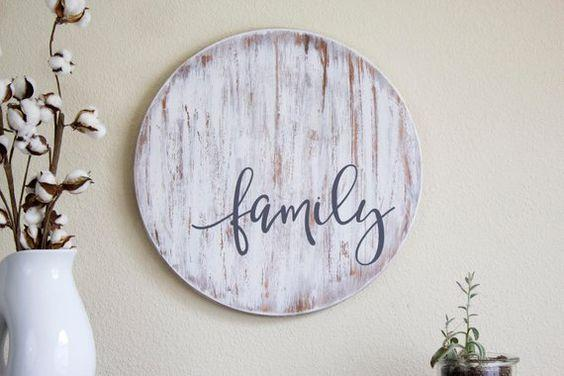Family Wooden Sign- Rustic Home Decor- Farmhouse Decor- Wood Sign- Fixer Upper Wall Decor- Distress