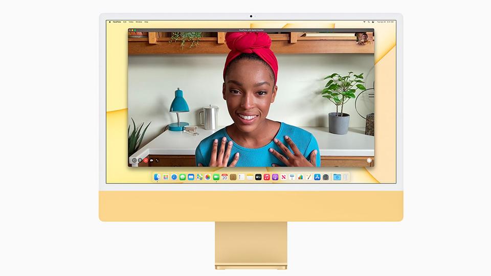 facetime iMac M1 2021 24 inch Retina 4.5K