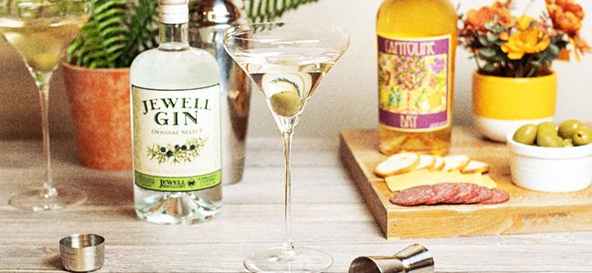 Jewell Distillery's Classic Martini