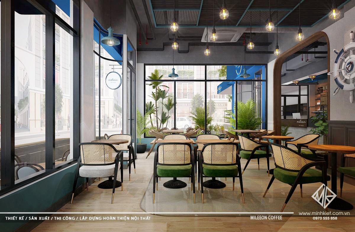 Thiết kế quán cafe đẹp cao cấp 2021 trên 500 triệu