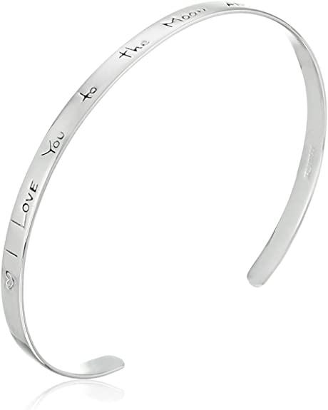 Sentiment Silver Cuff Bracelet
