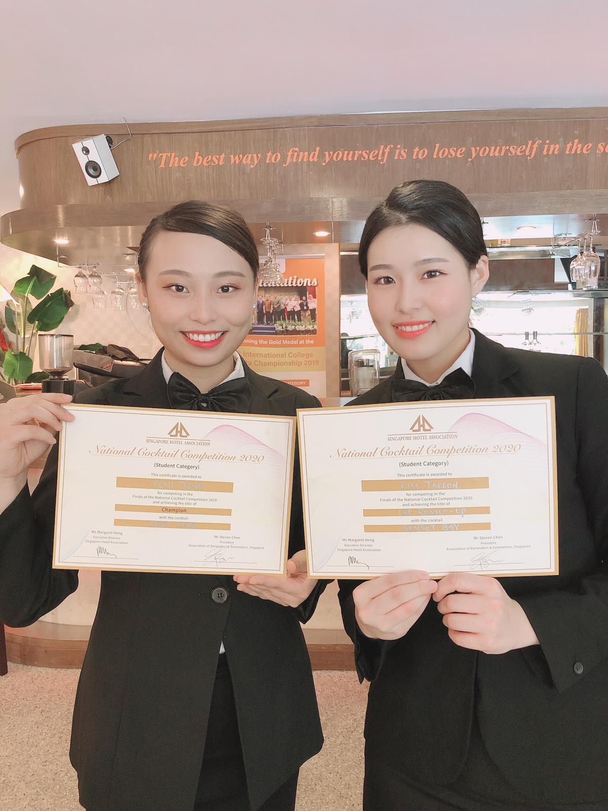 Sinh viên Viện Phát triển Quản lý Singapore (MDIS) đạt giải Nhất và Nhì Cuộc thi Pha chế Cocktail Singapore 2020 - Ảnh 4
