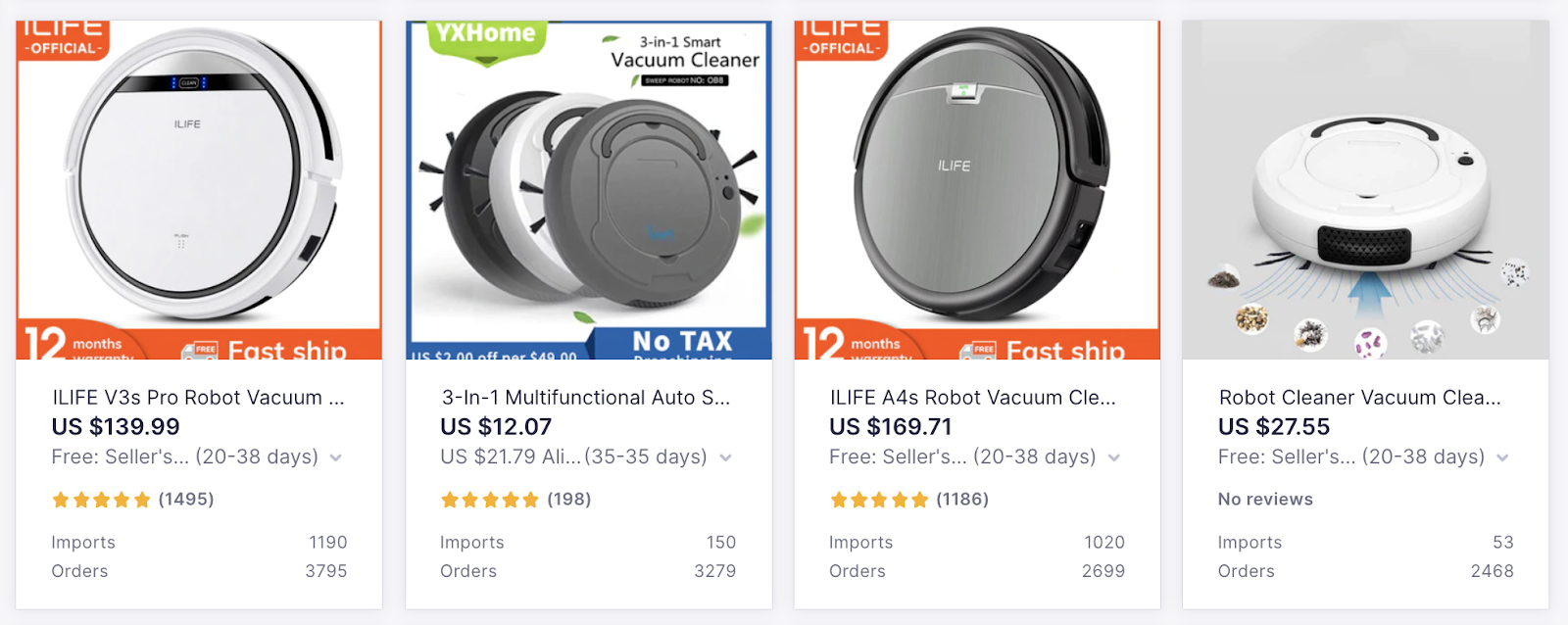 Best Products to Sell Online with Oberlo: Robotic Vacuum
