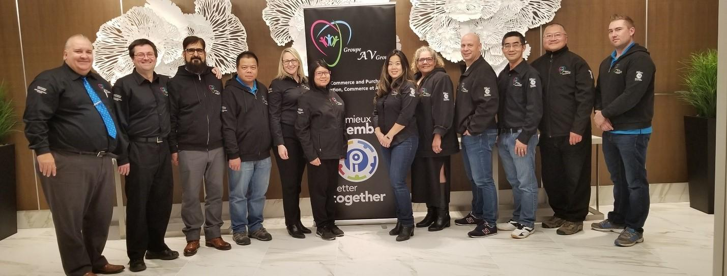 Group Executive L to R; Peter Gabriel – President, Sidney MacInnis, Nazim Awan, David Chu, Angela Cowie, Vania Tsang, Olivia Leung, Emily Beckerman, Yanick Poulin, Jason Huang, Phil Wang, James Bright – Vice-President  (regrets Andree Doucet)