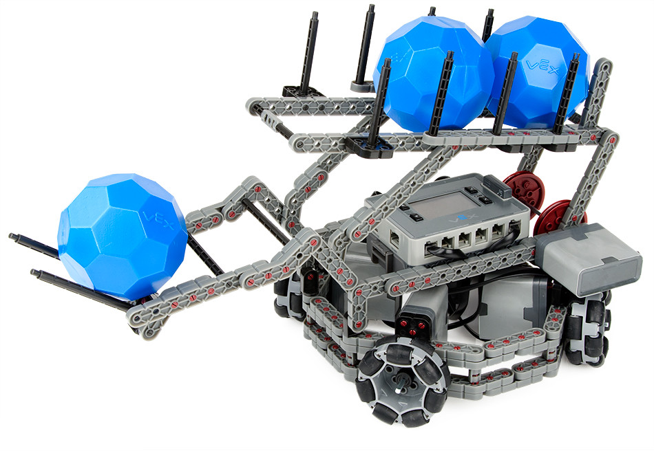 Photo of a buildable VEX IQ Robot