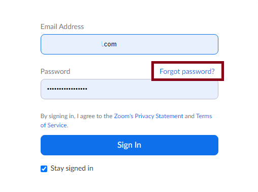How to change Password in Zoom