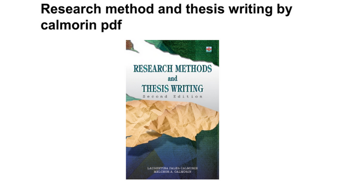 research and methodology thesis