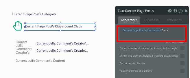 Bubble No Code Medium Clone Clap Count Tutorial