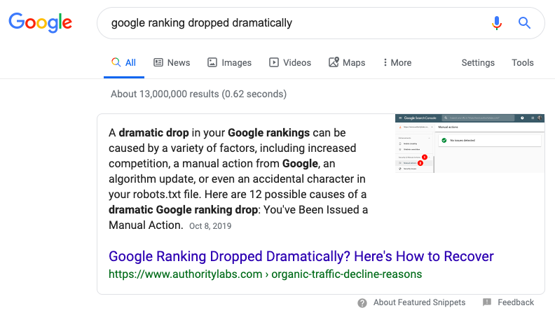 paragraph featured snippet example