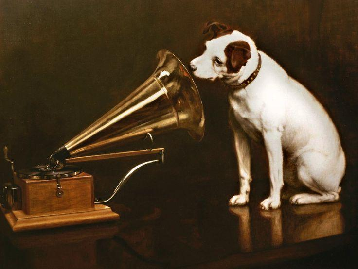 Image result for his master's voice illustration