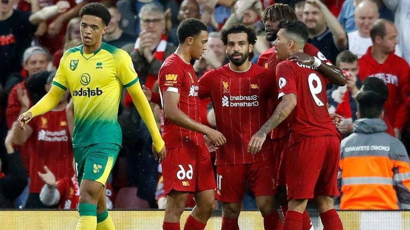 Premier League: Liverpool goleia Norwich em jogo com lesão de Alisson