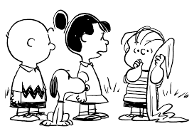 Peanuts cartoon Linus with blanket