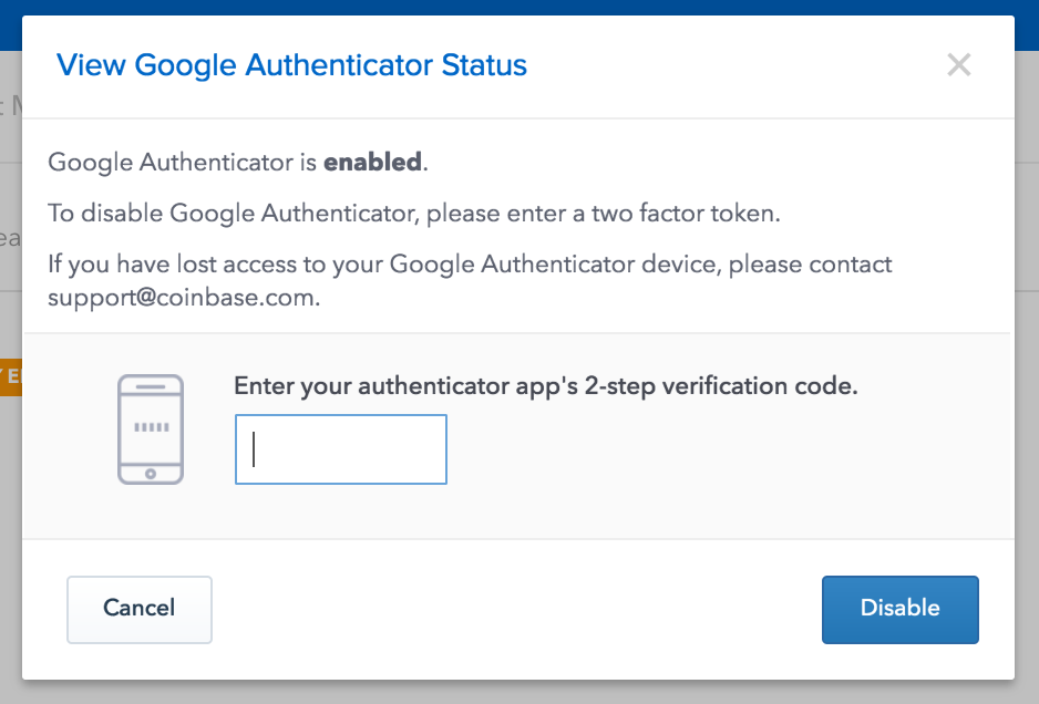 Coinbase Authenticator