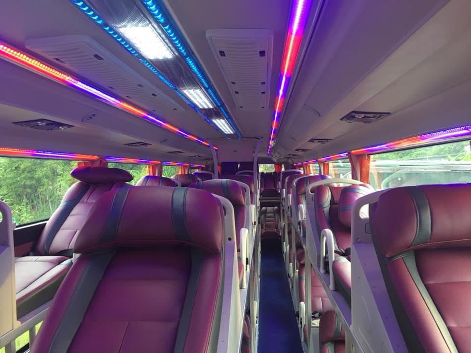Nội thất xe An Long Happy Bus đi Quảng Ninh từ Hà Nội