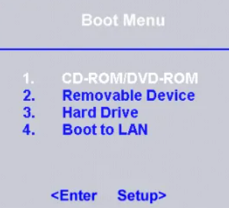 Your boot disk should be the first computer mentioned in the boot sequence list
