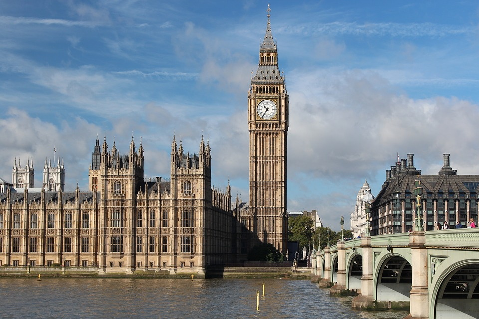UK break: Big Ben from opposite side of Thames river