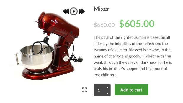 WooCommerce 360-degree image