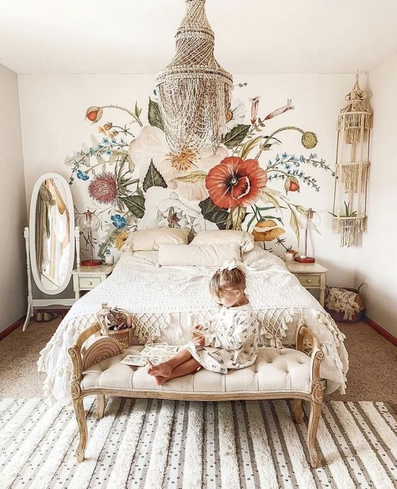 Floral Bedroom Wall Decoration