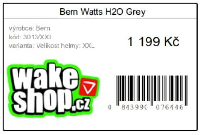 Shoptet doplněk Tisk štítků, tisk produktových a adresních štítků na Shoptetu, ukázka štítku.