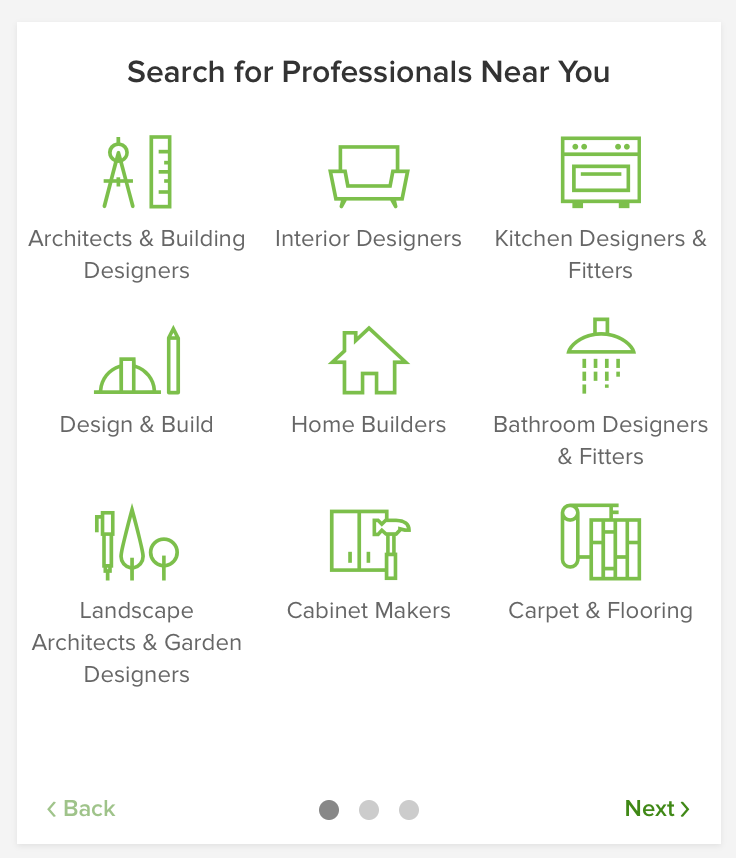 search professionals Houzz