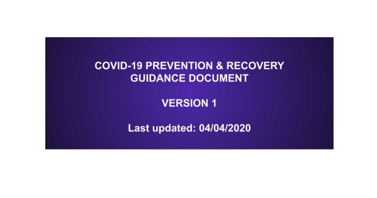 COVID-19 Prevention & Recovery
