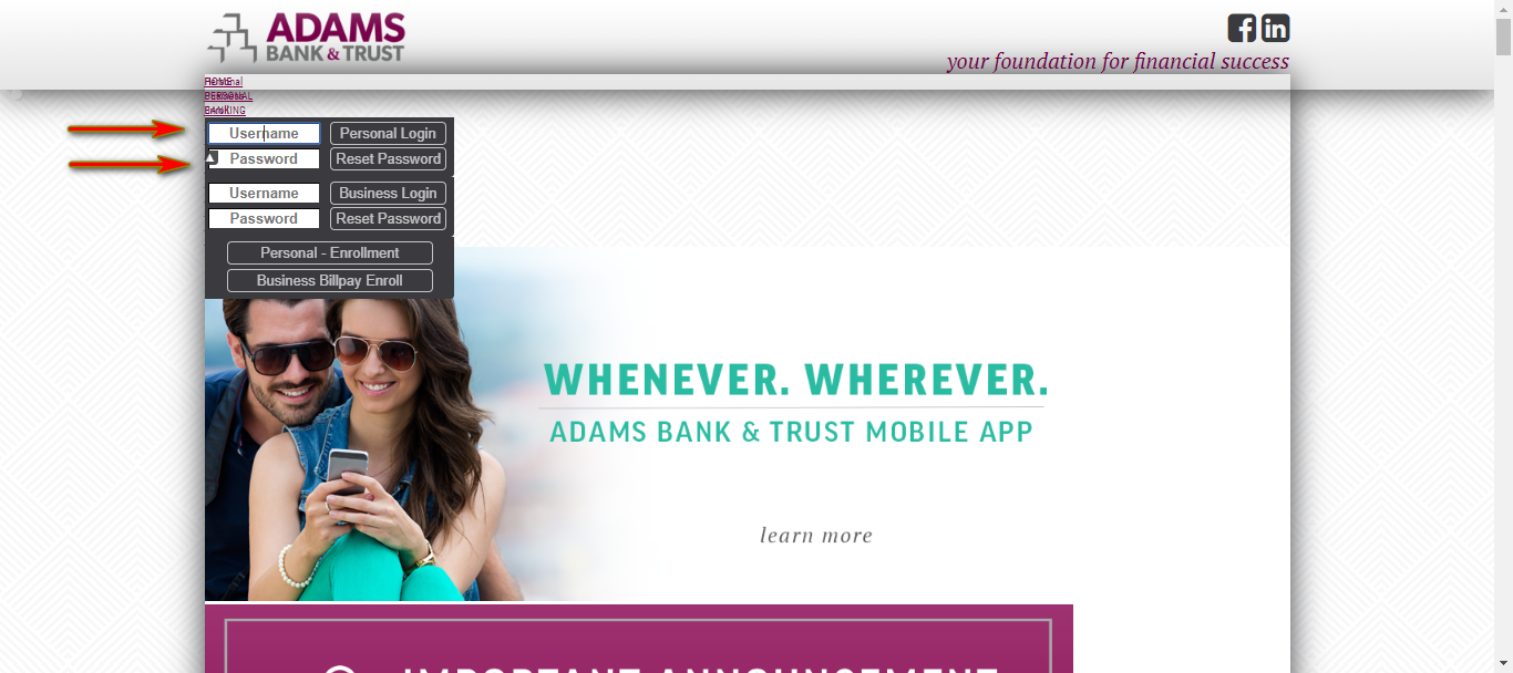 Adams Bank and Trust Online Banking Guide