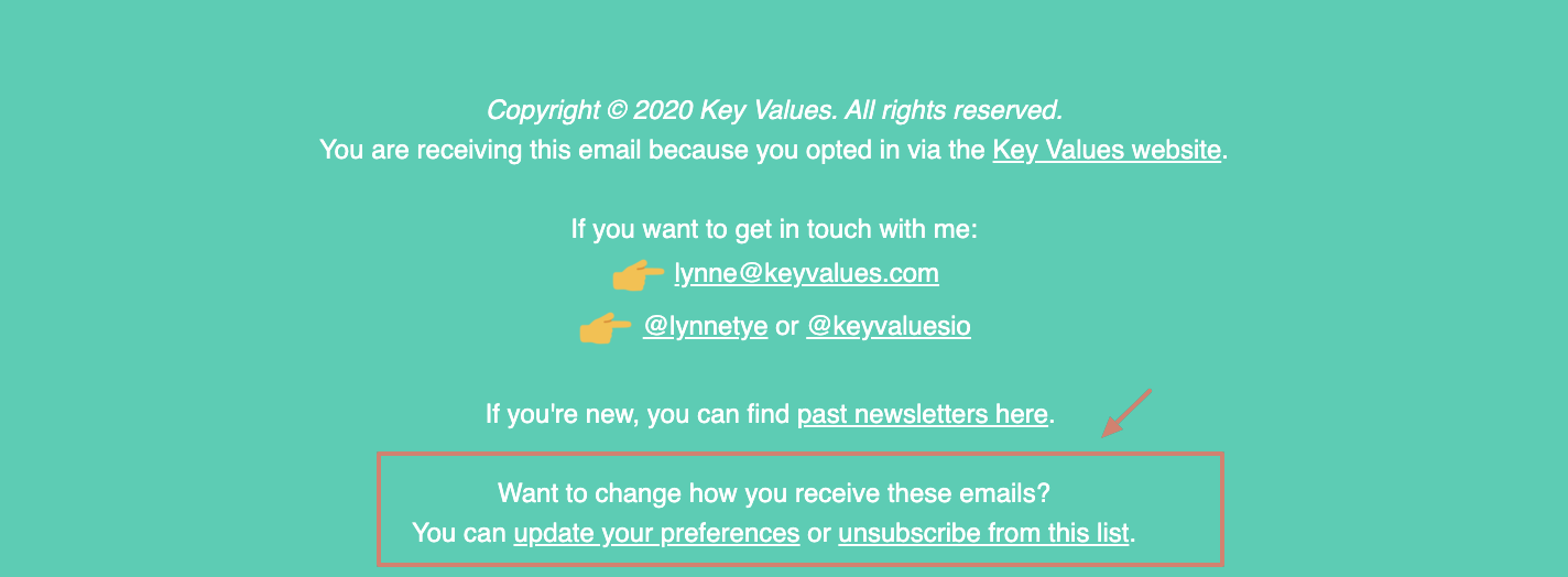 Easy-to-find Unsubscribe button