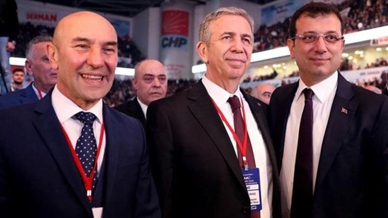 From left to right: Tunc Soyer (Mayor of Izmir), Mansur Yavas (Mayor of Ankara), Ekrem Imamoglu (Mayor of Istanbul)