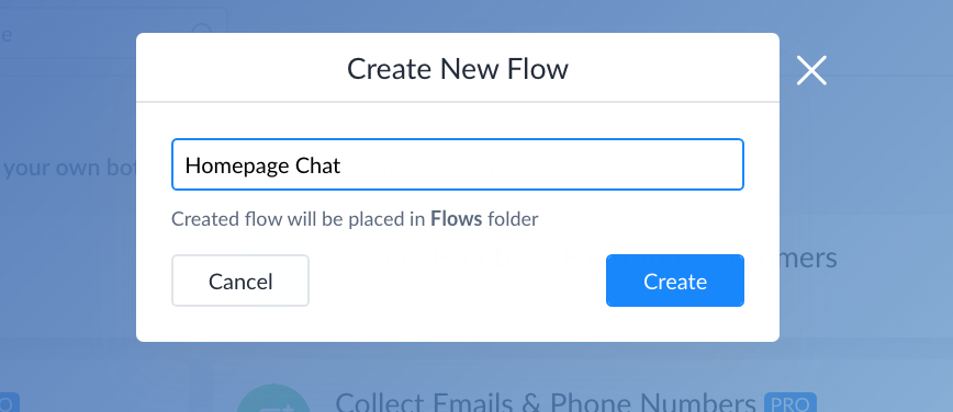 Naming your flow in ManyChat
