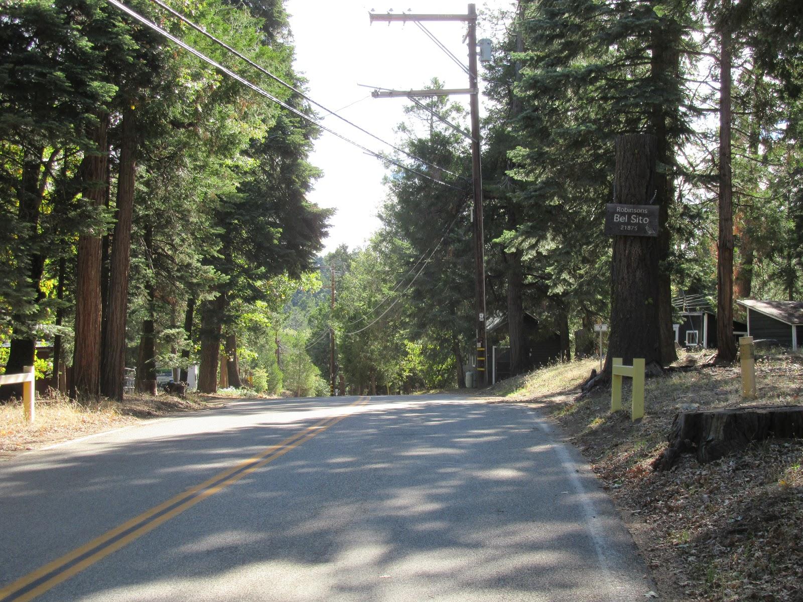 Crestline Road - finish of Mt Palomar bicycle climb
