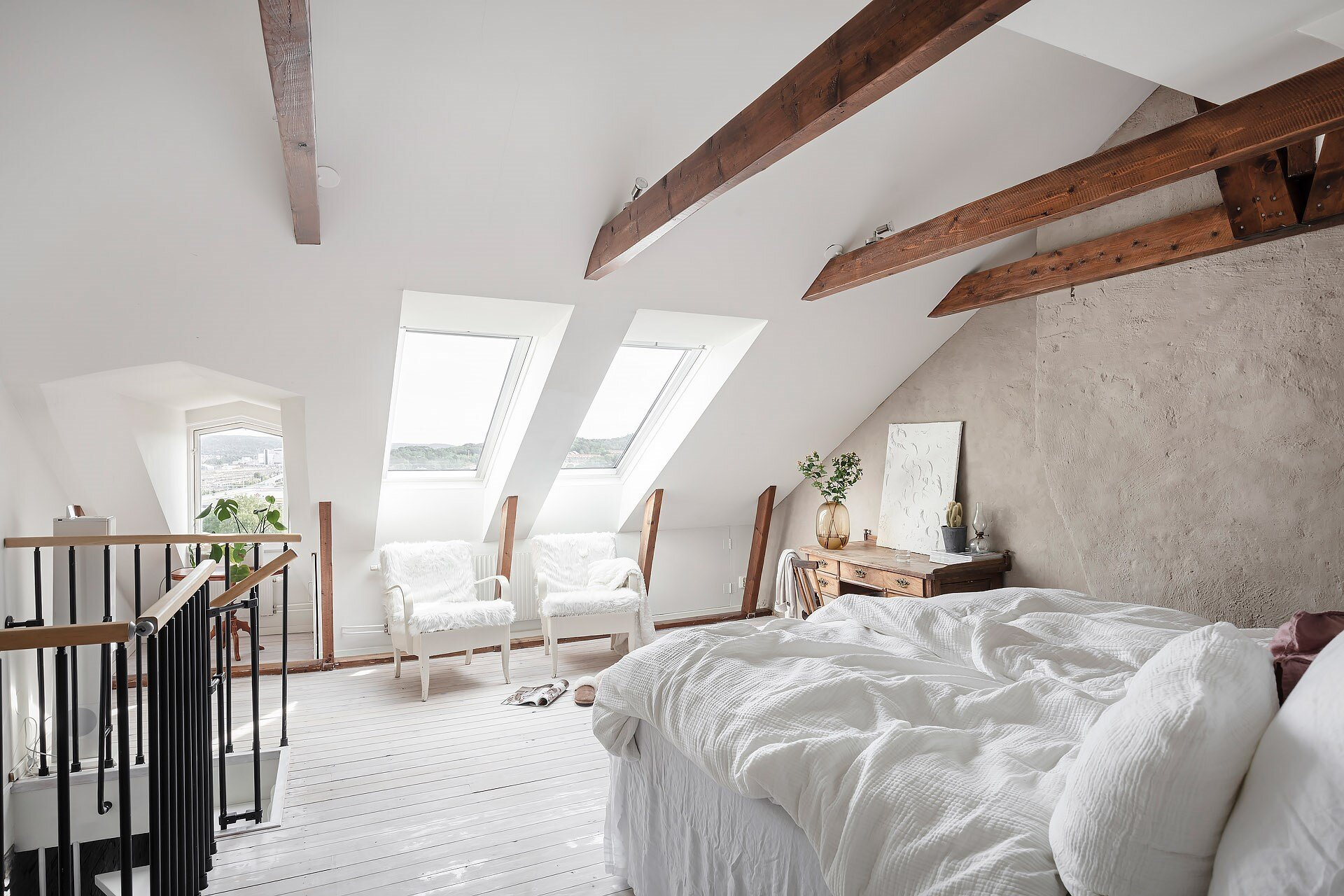 A Scandi Attic Bedroom