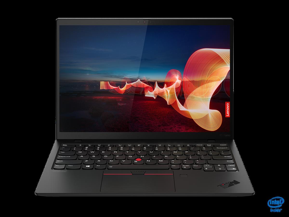 Lenovo ThinkPad X1 Nano atvērts skats no priekšpuses