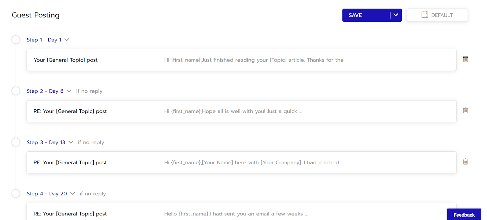 Automating follow up emails using Respona.