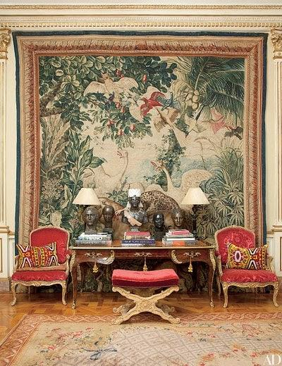 Wall Tapestry ideas for decorating blank living room wall