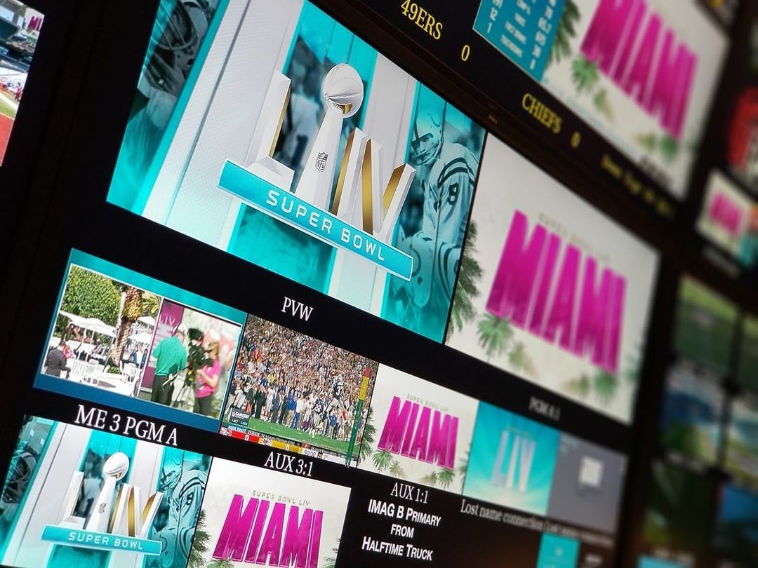 Production work done on an NFL game