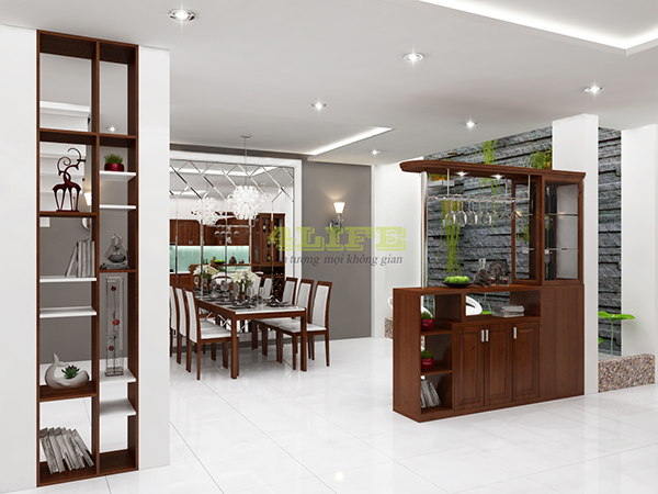 quầy bar gỗ bếp
