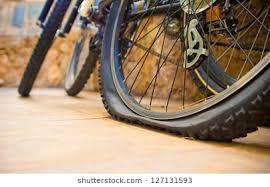 Image result for flattened bike tire