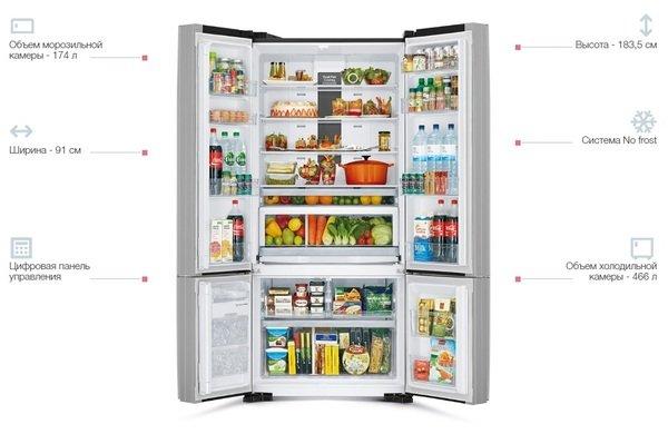 Особливості конструкції холодильника Hitachi R-WB800PUC5XGR