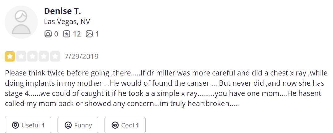 Dr. Stephen M. Miller, MD, PC, FACS review
