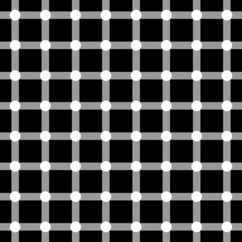 Hermann Grid Illusion (1870) Ludimar Hermann